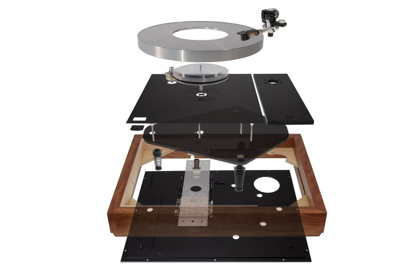 Exploded LP12 SERENE II Update 4_with plinth